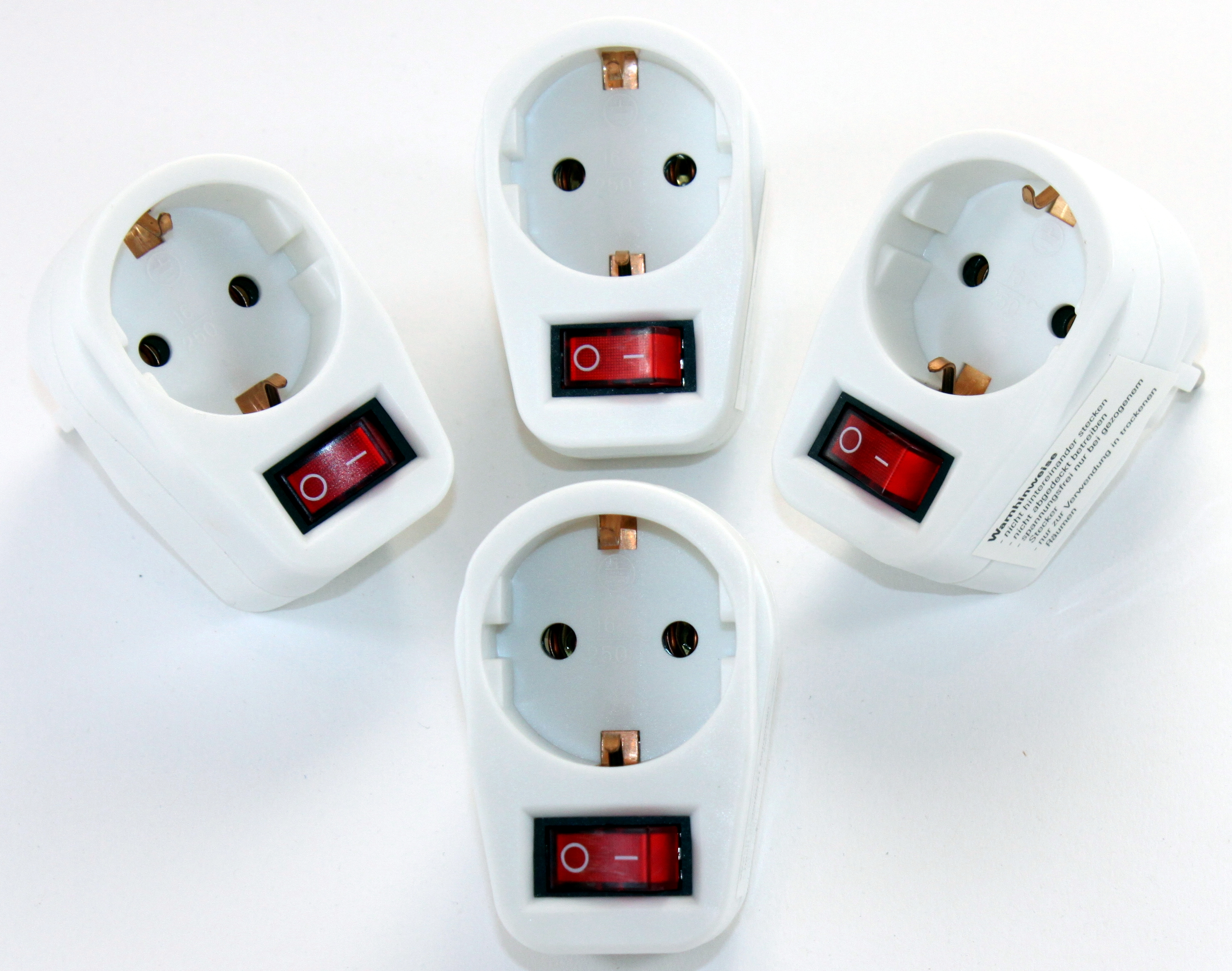 K & B Haushaltswaren - 1-fach Steckdose Adapter 1fach Mehrsteckdose ...